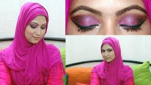 arabic pink eye makeup look