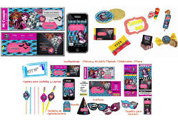 Cumpleanos Tematico De Monster High 100 Personalizado 299 00