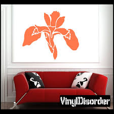 Iris Flower Wall Decal Vinyl Decal Car Decal Ns002 Flower Wall Decals Car Decals Vinyl Vinyl Wall Decals