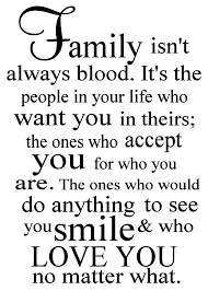 family isn t always blood vinyl decal family wall decal quote
