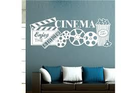 Vinyl Wall Art Stickers Home Movie Cinema Theatre Popcorn Film Quote Decals Decor Wish