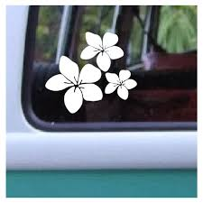 Plumeria Trio Flowers Decal 313 Hawaiian Floral Sticker Etsy