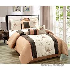 modern 7 piece bedding chocolate brown