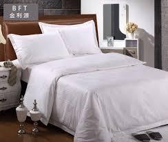 china hotel white bedding set fabric