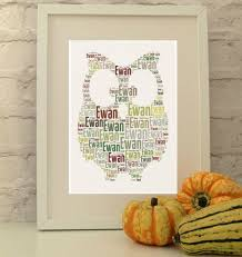 personalised owl print christening gift