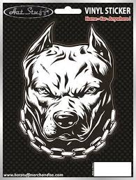 3 99 Pitbull Car Sticker Dog Angry Chains Window Auto Decal Ebay Home Garden Pitbull Art Pitbull Drawing Dog Stickers