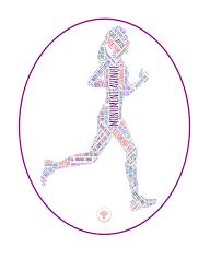Richmond Runner Female Sticker Dhruti Rathi Studio