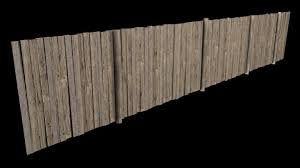 3d Wooden Fence 3d Model 3dhunt Co