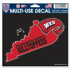 Western Kentucky Hilltoppers Official Ncaa 4 5 X 5 75 Automotive Car Decal 4 5 X5 75 By Wincraft 313843 Walmart Com Walmart Com