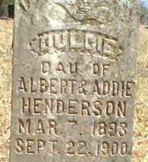 Dulcie Henderson (1893-1900) - Find A Grave Memorial