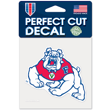 Fresno State Bulldogs Wincraft 4 X 4 Color Perfect Cut Decal