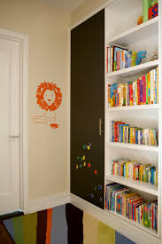 Childrens Bookcase Sliding Bookshelf