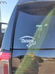 New England Patriots Girl Window Decal Sticker Custom Sticker Shop