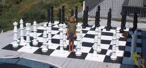 giant plastic chess set with a 49 king
