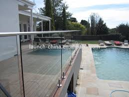 clear toughened glass balcony railings
