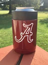 Yeti Powder Coated Colster Can Crimson With Alabama Crimson Etsy