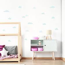 Pastel Minty Blue Cloud Wall Decals For Happy Homes Made Of Sundays