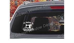 Handmade Products Decals Car Truck Sewing Vinyl Window Decal Sticker Id Rather Bee Quilting Decal Quilting
