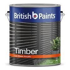 British Paints 4l Pitch Black Timber Exterior Paint Bunnings Warehouse