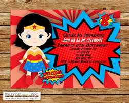Wonder Woman Invitations Wonder Woman Birthday Wonder Woman