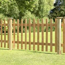 Forest Garden Pale Picket Fence Panel