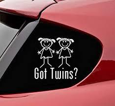Amazon Com Slap Art Got Twins Girl Girl Vinyl Decal Bumper Sticker Automotive