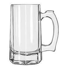 libbey 5206 12 oz glass beer mug stein
