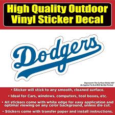 Los Angeles Dodgers Vinyl Car Window Laptop Bumper Sticker Decal Colorado Sticker