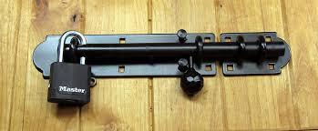 The Lockdown Heavy Duty Slide Bolt Double Eyelet With Lock Gate Latch Latches Barn Door Latch