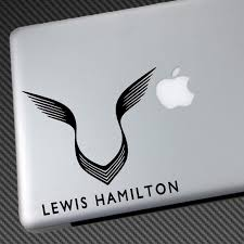 Lewis Hamilton Logo Sticker
