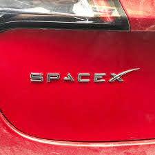 Spacex Decals 3d Metal Car Rear Trunk Emblem Sticker Badge Decals For Tesla Model S 3 X Decorative Accessories Amazon Sg Automotive