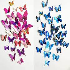 Butterfly Wall Decor Stickers Art Decals For Girl Rooms Home Garden
