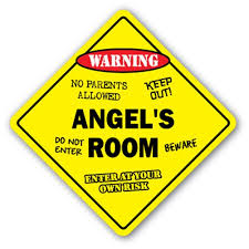 Angel S Room Decal Crossing Xing Kids Bedroom Door Children S Name Boy Girl Walmart Com Walmart Com