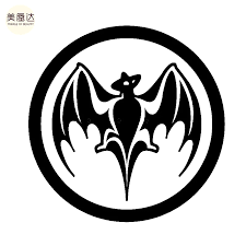 Bacardi Rum Vampire Bat Sticker For Car Rear Windshield Truck Suv Bumper Auto Door Kayak Art Die Cut Vinyl Decal Stickers For Bat Stickersvinyl Decal Aliexpress