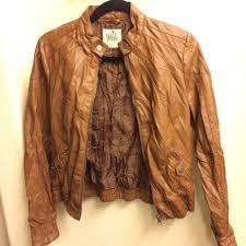 pacsun brown faux leather jacket