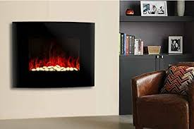 wall mounted electric fireplace stove