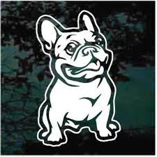 French Bulldog Car Decals Stickers Decal Junky
