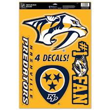 Nashville Predators Wincraft Decals 4 Pack Nashville Predators Locker Room