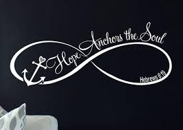 Hope Anchors The Soul Wall Decal Vinyl From Funnyandsticky On