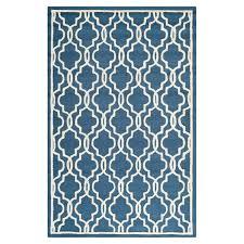 martins wool navy ivory area rug