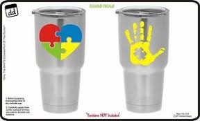 Autism Awareness Vinyl Decal Set Of 2 For Yeti Cup Tumbler Sticker Rtic Ozark Ebay