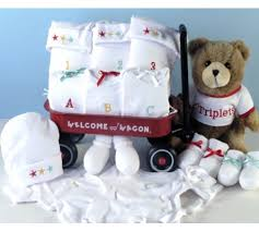 triplets wele wagon baby gift at