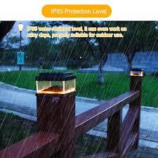 Ip65 8led Solar Powered Lamp Outdoor Solar Post Cap Light Lamp Landscape Solar Light Fence Post Light For Deck Garden Decoration Solar Lamps Aliexpress