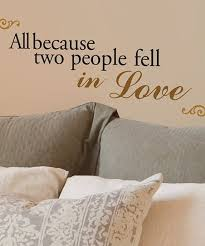 Lot 26 Studio All Because Two People Fell In Love Wall Decal Set Zulily