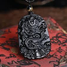 dragon drop pendant necklace amulet