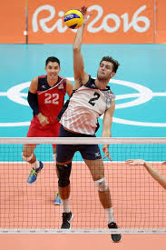 USA Volleyball - Aaron Russell attacks against France as...   فيسبوك