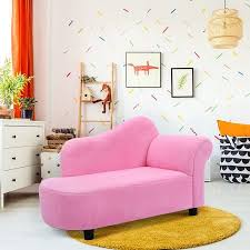 Costway Kids Sofa Armrest Chair Couch Lounge In Pink Walmart Com Bedroom Furniture Chairs Kids Chaise Kids Sofa
