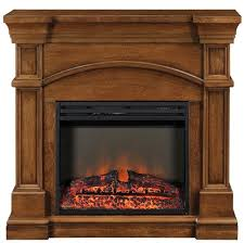 oberon electric fireplace mantel