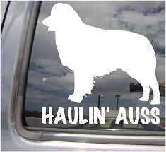 Amazon Com Right Now Decals Haulin Auss Australian Shepherd Cars Trucks Moped Helmet Hard Hat Auto Automotive Craft Laptop Vinyl Decal Store Window Wall Sticker 01014 Home Kitchen