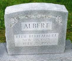 Effie Reed Albert (1878-1955) - Find A Grave Memorial